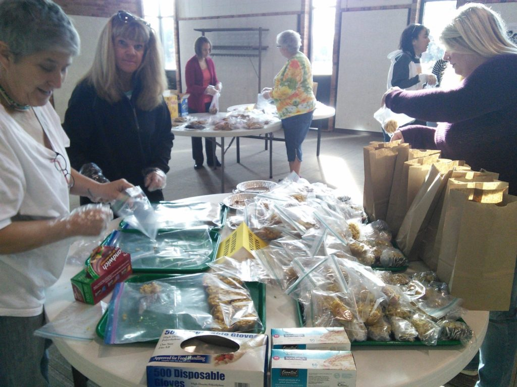 Packing Lunches for Operation Turkey Sandwich
